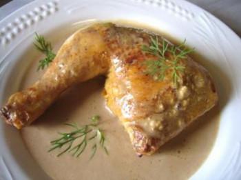 Cuisse de poulet à la crème (mini 10 pers)